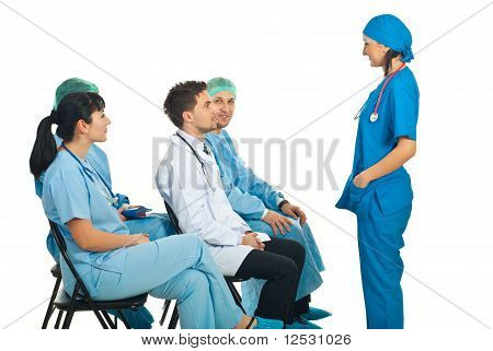 Doctor Woman Having Conversation