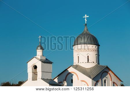 Close of Dome of St. Alexander Nevsky Church in Gomel, Belarus. Orthodox Church.