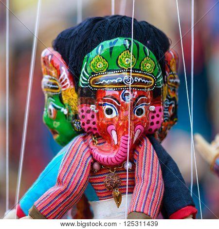 Traditional Nepalese puppet in Kathmandu, Nepal