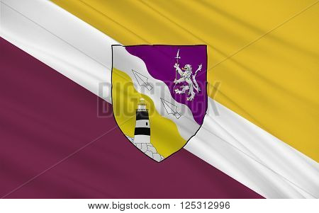 Flag of County Wexford is a county in Ireland. It is in the province of Leinster and is part of the South-East Region.