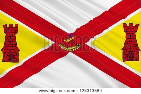 Flag of County Cork is the largest and southernmost county in Ireland. Located in the province of Munster it is named after the city of Cork. Cork County Council is the local authority for the county. Its largest towns are Cork City Carrigaline Midleton B