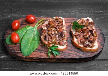 Two Bruschetta Sandwich