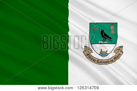 Flag of Fingal is a county in Ireland. It is located in the province of Leinster and within that is part of the Dublin Region.