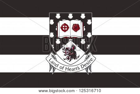 Flag of County Sligo is a county in Ireland. It is located in the Border Region and is also part of the province of Connacht. Sligo County Council is the local authority for the county.