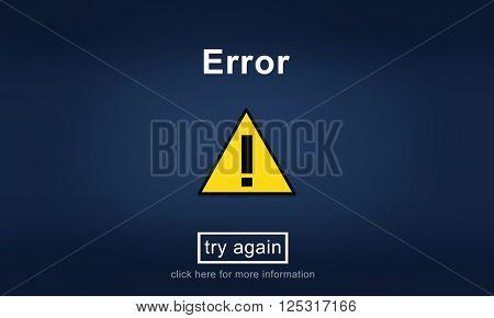 Error Disconnect Website Message Information Concept