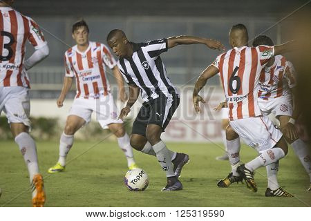 Rio de Janeiro Brasil - April 09 2016: Ribamar player in match between Vasco da Gama and Madureira by the Carioca championship in the S ** Note: Visible grain at 100%, best at smaller sizes