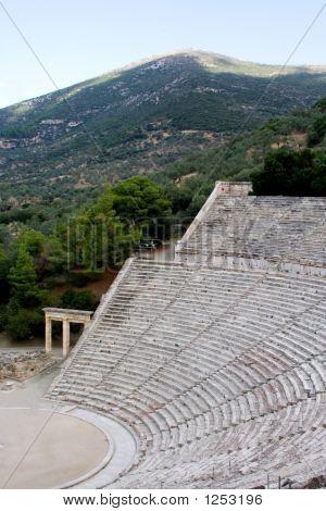 Ancient  Theatre Sanctuary Of Asklepios  Epidaurus Greece Antique