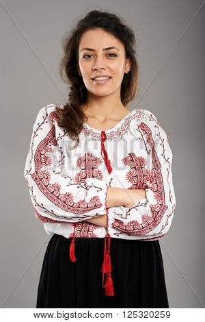 Romanian Girl In Traditional Costume