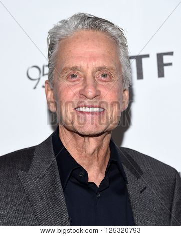 LOS ANGELES - APR 07:  Michael Douglas arrives to the Reel Stories, Real Lives  on April 07, 2016 in Hollywood, CA.
