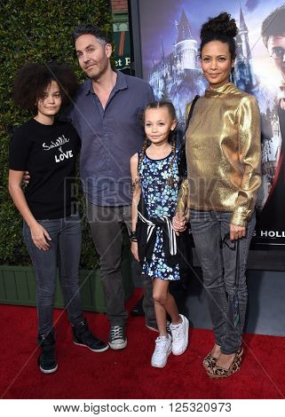 LOS ANGELES - APR 05:  Thandie Newton arrives to the Wizarding World of Harry Potter Opening  on April 05, 2016 in Hollywood, CA.