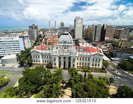 Aerial View of Republic Square, Recife, Pernambuco, Brazil