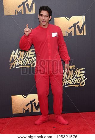 LOS ANGELES - APR 09:  Tyler Posey arrives to the Mtv Movie Awards 2016  on April 09, 2016 in Hollywood, CA.