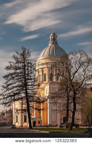 Trinity Cathedral of the Alexander Nevsky Lavra in Saint-Petersburg.