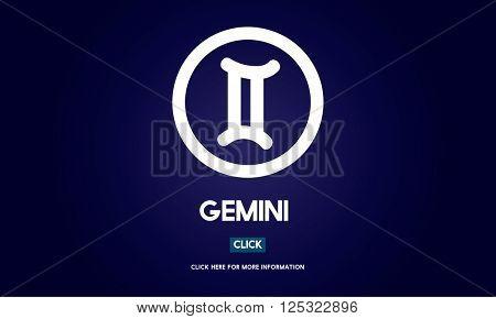 Gemini Zodiac Sign Horoscope Myth Stars Symbol Concept