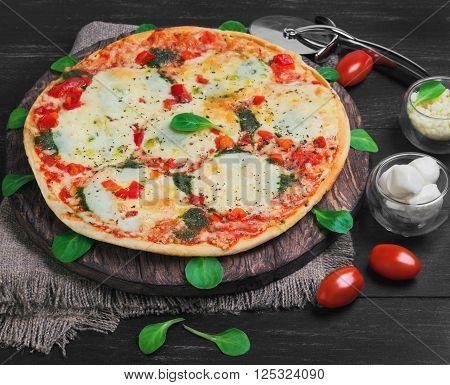 Pizza Mozzarella Food Photo