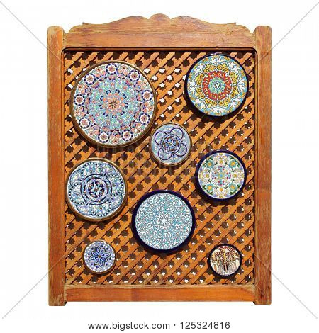 Colorful andalusian ceramic plates