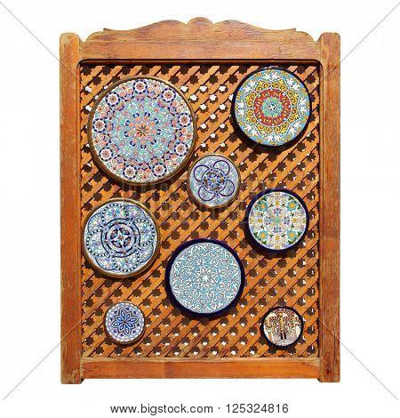Colorful andalusian ceramic plates