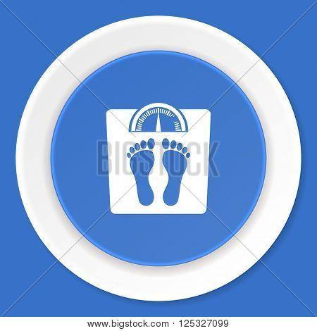 weight blue flat design modern web icon