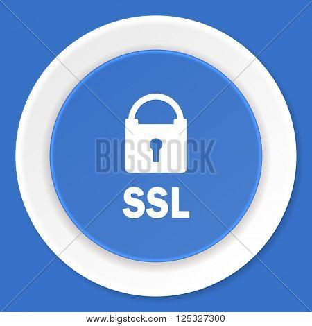 ssl blue flat design modern web icon