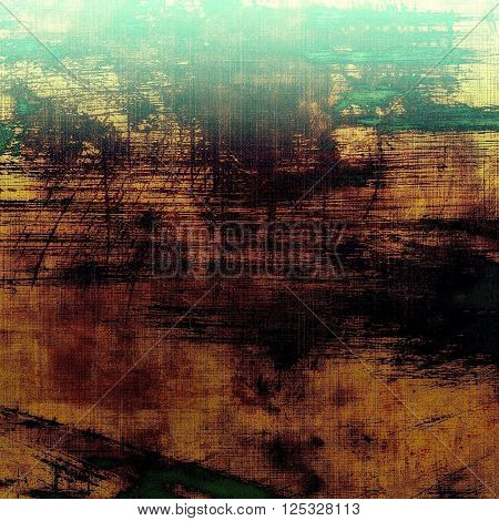 Veined grunge background or scratched texture with vintage feeling and different color patterns: yellow (beige); brown; green; black; cyan