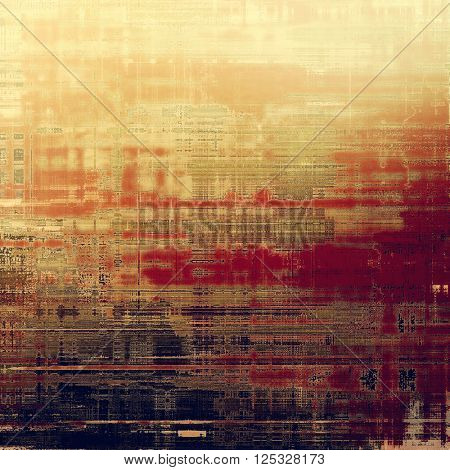Distressed grunge texture, damaged vintage background with different color patterns: yellow (beige); brown; purple (violet); red (orange); gray