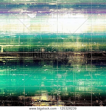 Art graphic texture for grunge abstract background. Aged colorful backdrop with different color patterns: yellow (beige); green; blue; purple (violet); black; white