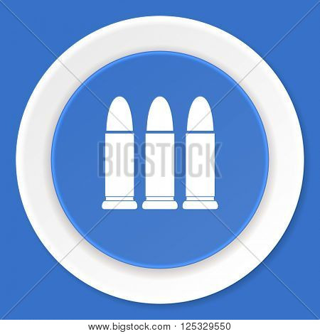 ammunition blue flat design modern web icon