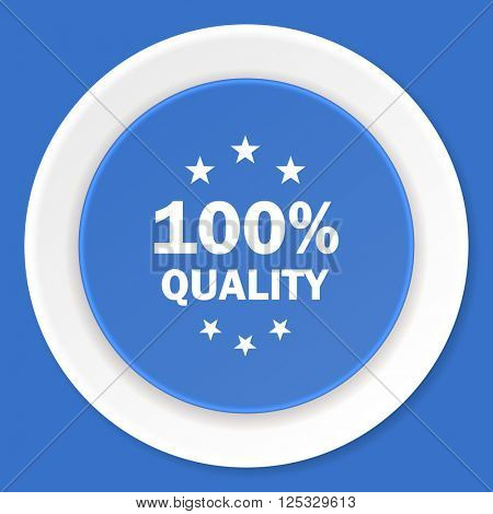 quality blue flat design modern web icon