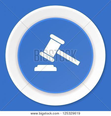 auction blue flat design modern web icon