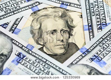 Fragment of Twenty Dollar Bill - President Jackson