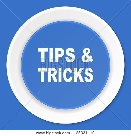 tips tricks blue flat design modern web icon