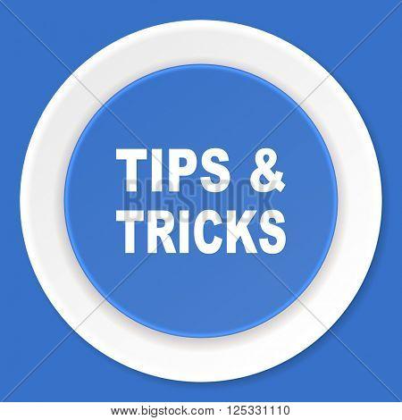 tips tricks blue flat design modern web icon