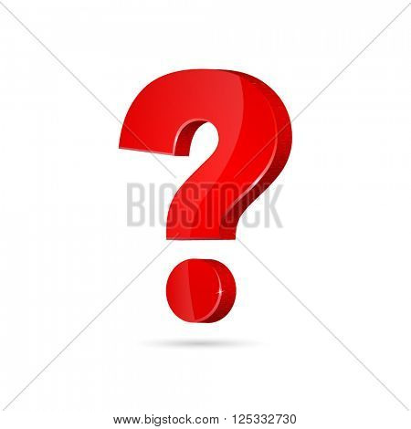 vector of isolated red question mark on white