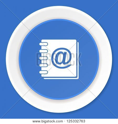 address book blue flat design modern web icon