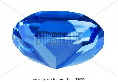blue sapphire isolated on white background