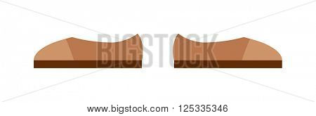 Brown boots cartoon vector illustration.