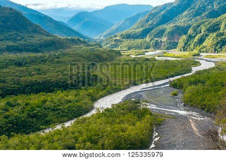 From Andes to Amazon View of the tropical rainforest Pastaza province in the Oriente of Ecuador