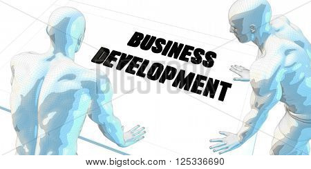 Business Development Discussion and Business Meeting Concept Art