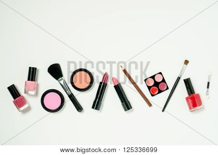 A Row Of Beauty Cosmetics