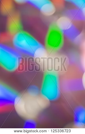 Blurred Shot Of A Bunch Of Compact Discs