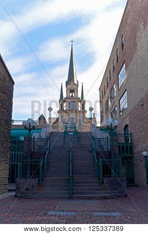 catholic church our lady of lourdes in nicollet park neighborhood of minneapolis minnesota