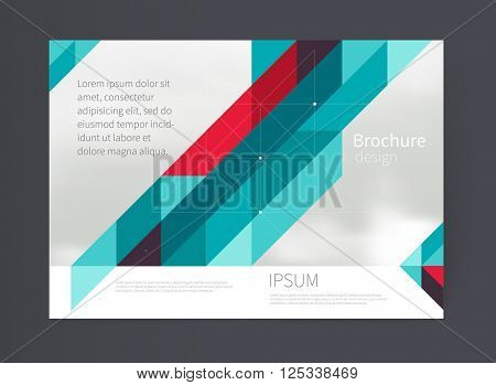 Cover design. Brochure, flyer, annual report cover template. a3 size. modern Geometric Abstract background  triangles and diagonal lines. vector-stock illustration EPS 10