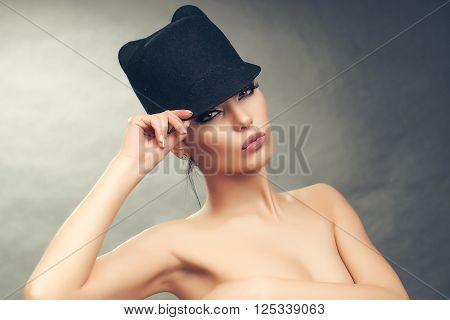 Fashionable Woman Topless
