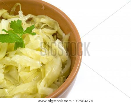 Cabbage In Plate