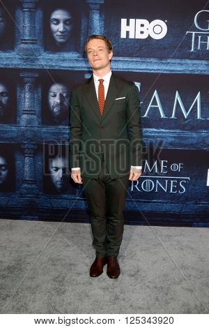 LOS ANGELES - APR 10:  Alfie Allen at the Game of Thrones Season 6 Premiere Screening at the TCL Chinese Theater IMAX on April 10, 2016 in Los Angeles, CA