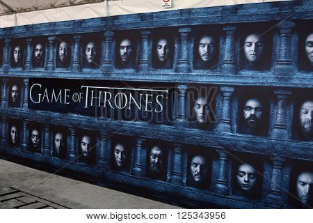 LOS ANGELES - APR 10:  Games of Thrones Atmosphere at the Game of Thrones Season 6 Premiere Screening at the TCL Chinese Theater IMAX on April 10, 2016 in Los Angeles, CA