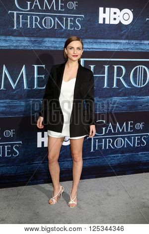 LOS ANGELES - APR 10:  Faye Marsay at the Game of Thrones Season 6 Premiere Screening at the TCL Chinese Theater IMAX on April 10, 2016 in Los Angeles, CA