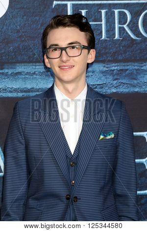 LOS ANGELES - APR 10:  Isaac Hempstead Wright at the Game of Thrones Season 6 Premiere Screening at the TCL Chinese Theater IMAX on April 10, 2016 in Los Angeles, CA