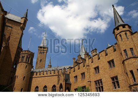 Medieval Fortress, Hohenzollern Castle, Black Forest, Stuttgart, Germany