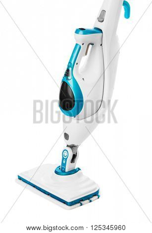 Steam mop cleaner isolated on white background